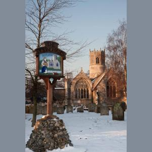 Rickinghall village sign 6x4